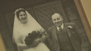 Fred Craven and his daughter, Ann, on her wedding day