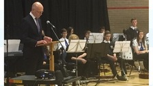 Deputy First Minister John Swinney at Jedburgh Grammar School today