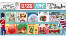 Famous toys such as Fuzzy-felt are included in the stamp series.