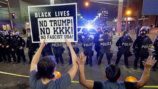 Protesters gathered outside the president's Arizona rally to make their anger heard.