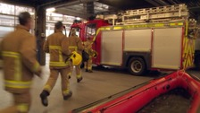 Cumbria firefighters took an hour to deal with the fire