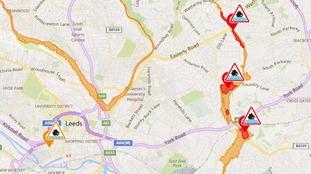 Flood warnings issued after heavy rain in Leeds
