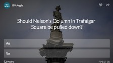Poll: Should 'white supremacist' Nelson's Column be torn down?