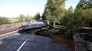 Claudy road collapsed