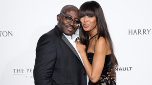 New Vogue editor-in-chief Edward Enninful and supermodel Naomi Campbell.