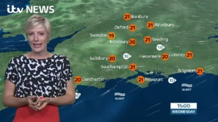 Lunchtime forecast for west of region from Helen
