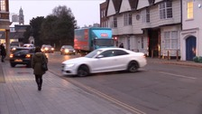 Drivers making a u-turn to avoid a bus lane in Colchester.