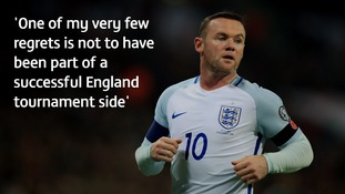 Wayne Rooney never played beyond the quarter-finals of a major tournament.