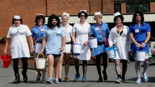 Hospital refuses £2,500 donation from men dressed as female nurses