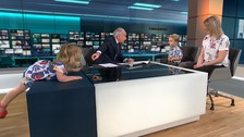 The moment toddler takes over ITV News studio