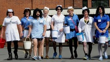 Hospital refuses donation from men dressed as female nurses