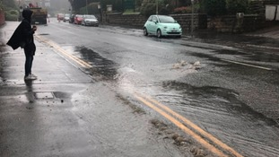 Valley Road in Scarborough is closed due to flooding