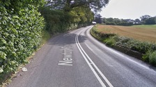 The motorcyclist, in his 20s, died following the crash on the A381 Newton road.