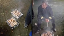 Firefighters apologise after eating the pigs they saved