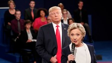 Clinton says her 'skin crawled' during debate with 'creep' Trump