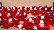Wreaths are laid at the Stone of Remembrance after the Commemoration of the Centenary of the Battle of the Somme.