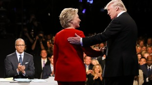 Mrs Clinton wonders if she should have challenged Trump over his his effort to intimidate her.