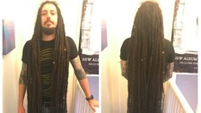Son cutting off 4ft dreadlocks for dad with cancer