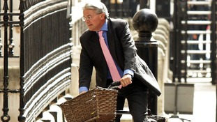 Andrew Mitchell arriving at Downing Street in May