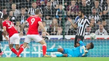 Newcastle out of league cup after defeat to Forest