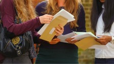 Thousands of students collect GCSE results