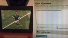 Hotel grants customer request for framed picture of Norwich footballer by his bed