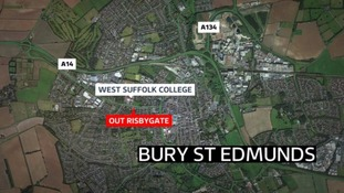 The man was taken to West Suffolk Hospital where he remains in a critical condition