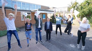 Students at Alde Valley Academy in Leiston today celebrated yet another set of outstanding results today