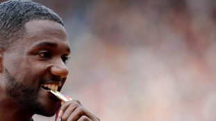 Justin Gatlin spoke exclusively to ITV News