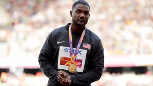 Gatlin says hearing the booing as he received his medal hurt.