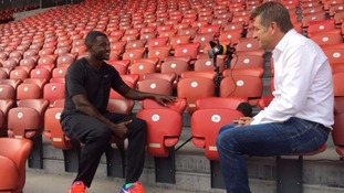 Gatlin spoke to ITV News sports editor Steve Scott
