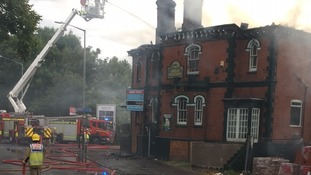 Fire breaks out in derelict pub