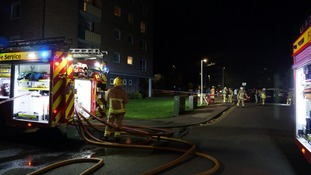 Four fire engines and an aerial platform were called to the scene in Beckett Court.
