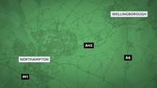 A man has died following a crash on the A45 near Wellingborough in Northamptonshire.