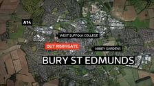 A man found with a bleed on the brain in Bury St Edmunds has died.