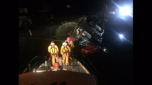 Lifeboats rush to help flooded trawler