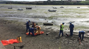 Coastguard Rescue Teams spent several hours rescuing the families.