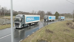 'Self-driving' lorries to be trialled on UK motorways next year