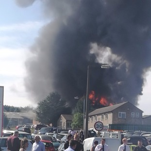 Residents in Grantham have been advised to keep doors and windows shut.
