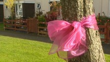 A pink ribbon