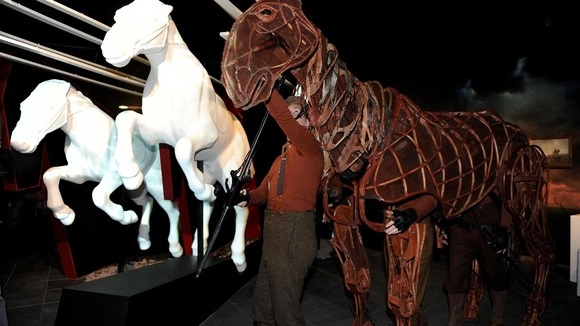 Joey, the large stage puppet from the National Theatre's War Horse production.