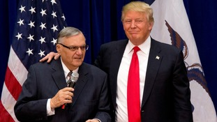 Joe Arpaio with Donald Trump