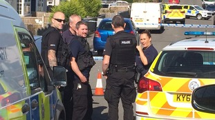 Confirmed: police have shot a man in a Derbyshire street