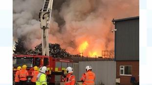 Bourne scrapyard fire