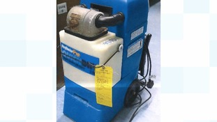 Cocaine hidden in carper cleaning machine