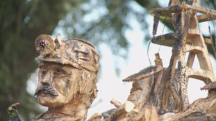 Mining statue unveiled in Northumberland