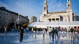 The Ice Cube in Millennium Square, Leeds