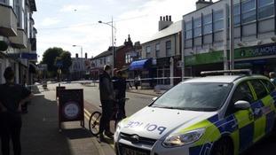 The scene in Beeston on Friday