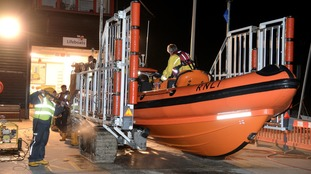 Search hampered after laser pen shone at Lifeboat crews