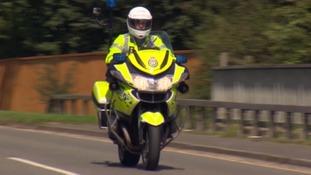 paramedic on motorbike